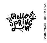 hand drawn lettering hello... | Shutterstock .eps vector #1016451766