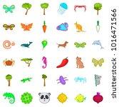 bio world icons set. cartoon... | Shutterstock .eps vector #1016471566