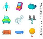 machine icons set. cartoon set...   Shutterstock .eps vector #1016472796