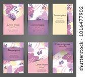 minimal vector covers set.... | Shutterstock .eps vector #1016477902