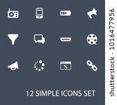 set of 12 media icons set....   Shutterstock .eps vector #1016477956