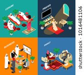 isometric design concept with... | Shutterstock . vector #1016481106
