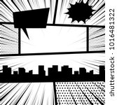 comics book monochrome template ...   Shutterstock .eps vector #1016481322