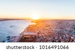 aerial view of downtown lisbon... | Shutterstock . vector #1016491066