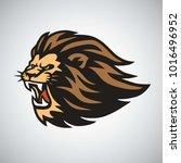 retro lion logo design   Shutterstock .eps vector #1016496952