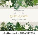 wedding invitation  background... | Shutterstock .eps vector #1016500906