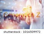 generation z business concept... | Shutterstock . vector #1016509972