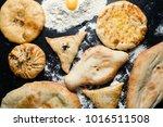 travel street food. lavash... | Shutterstock . vector #1016511508