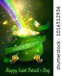 st. patrick s day symbol green... | Shutterstock .eps vector #1016512936