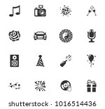 party time icons for web design | Shutterstock .eps vector #1016514436