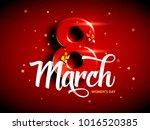 8 march. international woman's... | Shutterstock .eps vector #1016520385