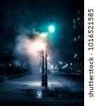 toronto winter scene   steam... | Shutterstock . vector #1016521585