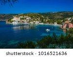 assos or asos village in... | Shutterstock . vector #1016521636
