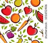 vector fruits pattern | Shutterstock .eps vector #101652406