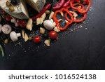 food photography art. gourmet... | Shutterstock . vector #1016524138