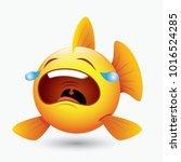 Cute Crying Fish Emoticon ...