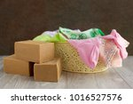 household soap and laundry... | Shutterstock . vector #1016527576