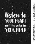 listen to your heart....   Shutterstock .eps vector #1016538808