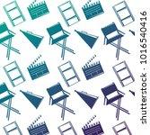 seamless pattern film movie...   Shutterstock .eps vector #1016540416