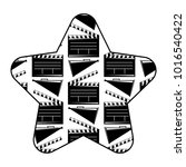label star with movie cinema...   Shutterstock .eps vector #1016540422