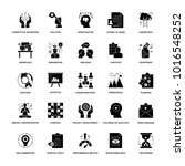 glyph icons project management  | Shutterstock .eps vector #1016548252