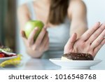 woman dieting for good health... | Shutterstock . vector #1016548768