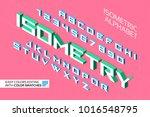 isometric alphabet. 3d letters... | Shutterstock .eps vector #1016548795