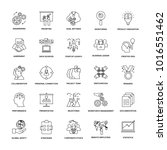 project management line icons  | Shutterstock .eps vector #1016551462