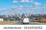 a drive into cincinnati on a... | Shutterstock . vector #1016553052