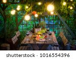 preparation for dinner with... | Shutterstock . vector #1016554396
