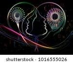 profiles of technology series.... | Shutterstock . vector #1016555026