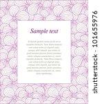 violet floral frame. seamless... | Shutterstock .eps vector #101655976