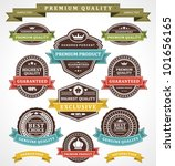 vintage labels and ribbons set. ... | Shutterstock .eps vector #101656165
