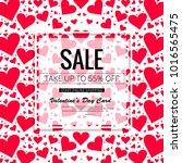 happy valentine's day sale... | Shutterstock .eps vector #1016565475