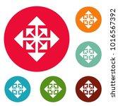 cursor displacement arrow icons ... | Shutterstock .eps vector #1016567392
