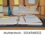 notebook  packing accessories... | Shutterstock . vector #1016568322