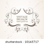 abstract antique frame for... | Shutterstock .eps vector #10165717