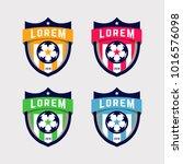 soccer logo or football club... | Shutterstock .eps vector #1016576098