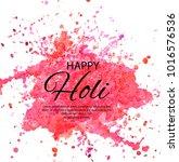happy holi indian spring...   Shutterstock .eps vector #1016576536