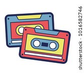 cassettes recorder tape music... | Shutterstock .eps vector #1016582746