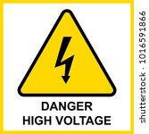 danger high voltage sign vector   Shutterstock .eps vector #1016591866