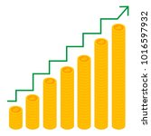 cryptocurrency growth chart.... | Shutterstock .eps vector #1016597932
