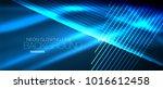 neon blue vector smooth wave... | Shutterstock .eps vector #1016612458