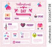 creative valentines day... | Shutterstock .eps vector #1016614738