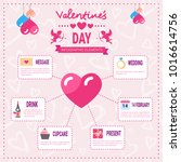 valentines day infographic set... | Shutterstock .eps vector #1016614756