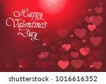 valentines day background with... | Shutterstock .eps vector #1016616352
