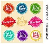 let's party set of labels | Shutterstock .eps vector #101662066