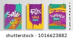 set of three different sale... | Shutterstock .eps vector #1016623882