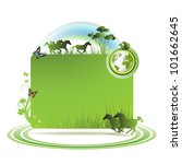 green earth background with... | Shutterstock . vector #101662645