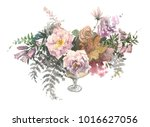 decorative composition of... | Shutterstock . vector #1016627056